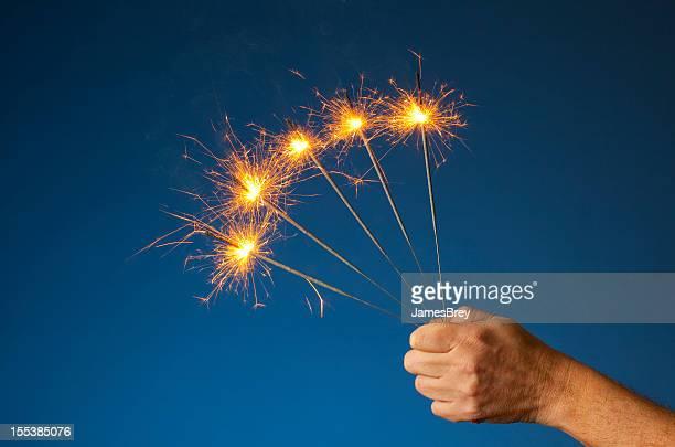 Five Sparkler Excitement