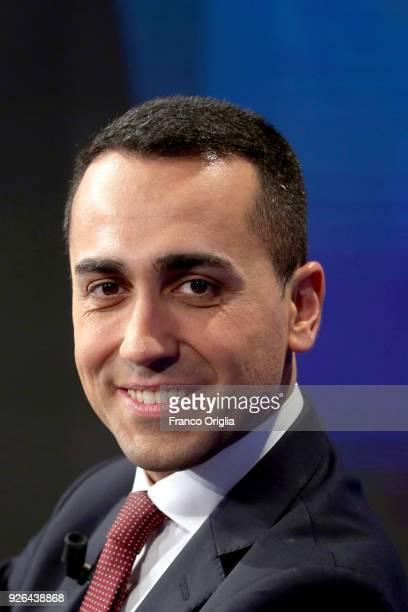 Five Star Movement's candidate for Italian premier Luigi Di Maio attends 'Porta a Porta' talk show at the RAI studios on March 2 2018 in Rome Italy...