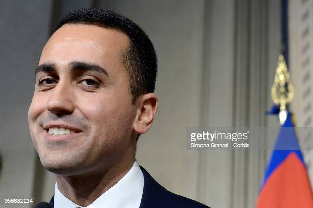 Five Stars Movement delegation withLuigi Di Maio at the end of the Consultations of the President of the Republic at Quirinale for the formation of...