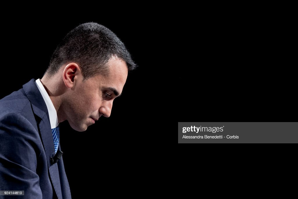 Luigi di Maio of the Five Star Movement Attends TV Debate Shows
