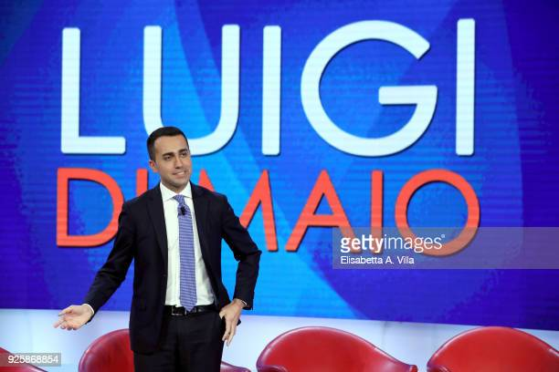 Five Stars Movement leader and candidate Luigi di Maio attends the TV debate show 'L'Aria Che Tira' at La7''s broadcast studios on March 1 2018 in...