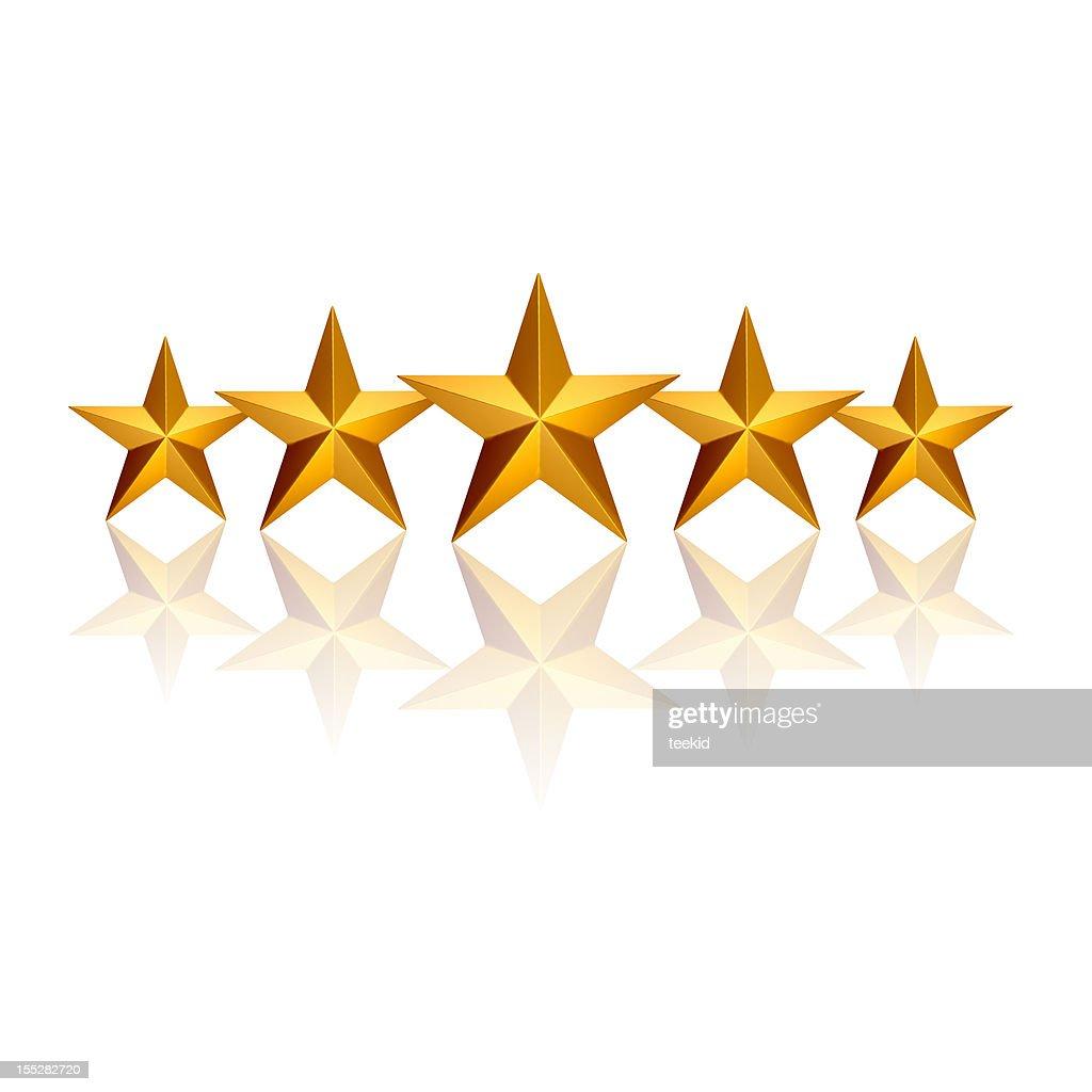Five Stars : Stock Photo