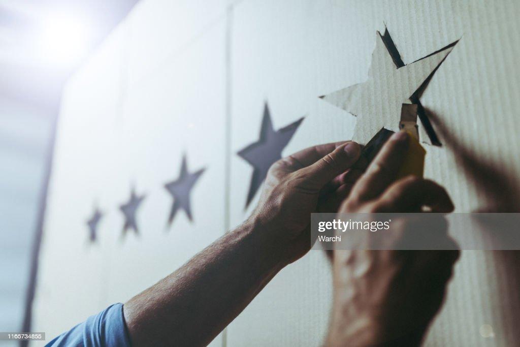 Concept d'évaluation de cinq étoiles : Photo