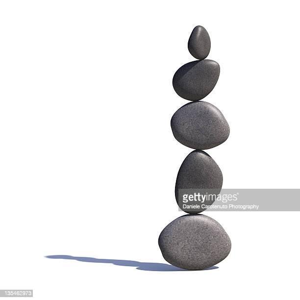five stones balancing - daniele carotenuto stock-fotos und bilder