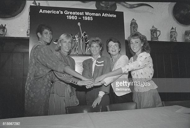 Five superstars of women's sports nominated for the honor of being named Greatest American Woman Athlete of the Last 25 years are former track star...