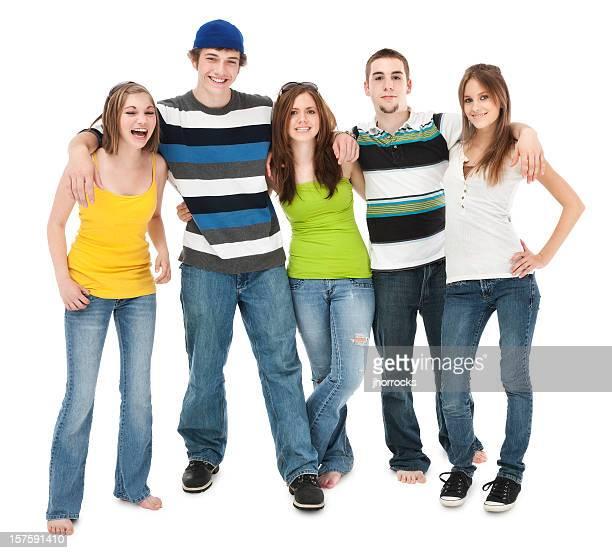 Fünf Teen Freunde