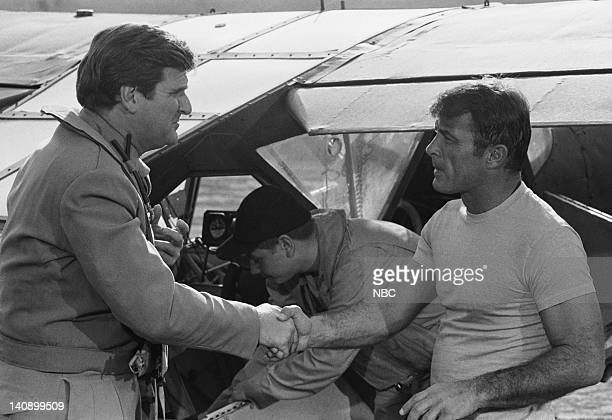 SHEEP Five the Hard Way Episode 18 Aired 2/1/77 Pictured Kenneth Mars as Harold French Robert Conrad as Maj Greg 'Pappy' Boyington Photo by NBCU...
