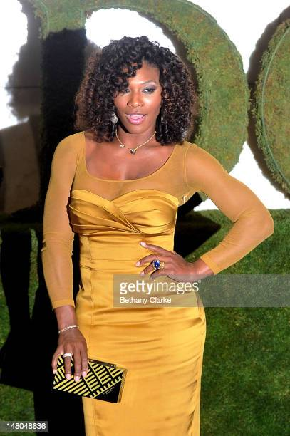 Five times Wimbledon Ladies Champion Serena Williams attends the Wimbledon Championships 2012 Winners Ball at the InterContinental Park Lane Hotel on...