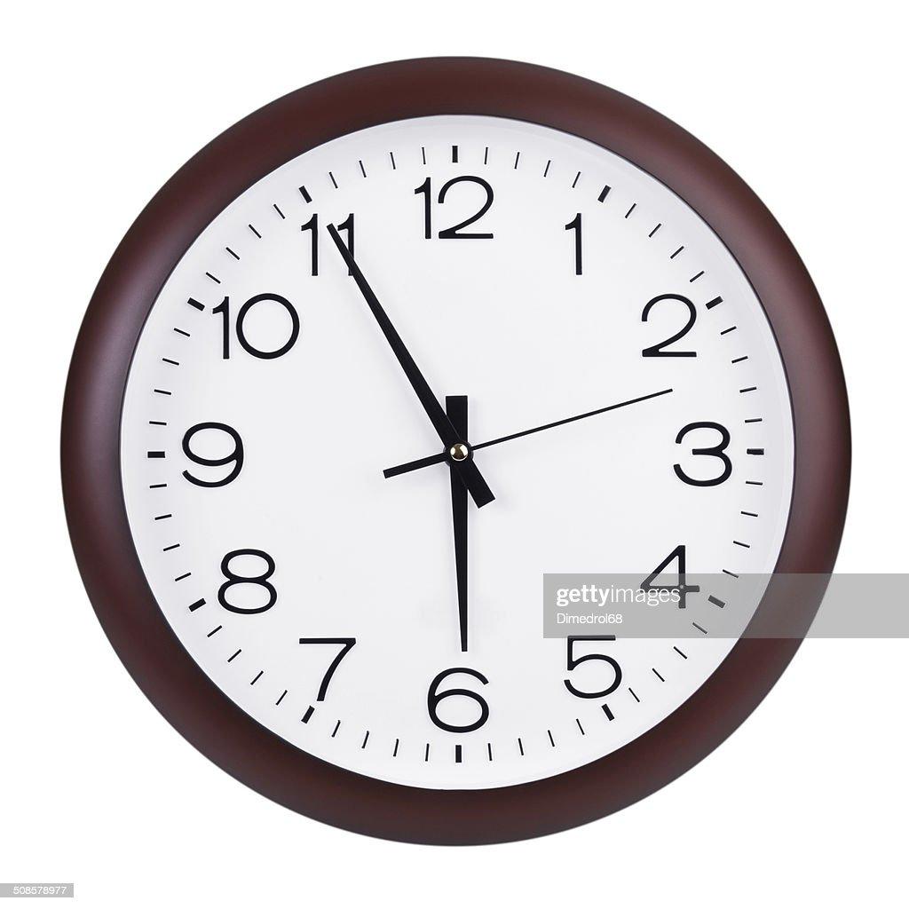 5 ~6 時間に時計 : ストックフォト