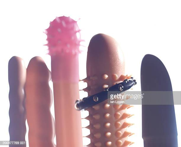 five vibrators side by side - sex toy stock photos and pictures