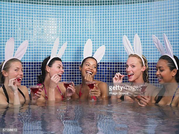 Five women in hot tub