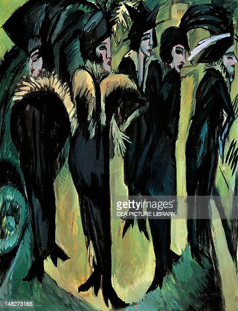 Five women on the street by Ernst Ludwig Kirchner Cologne WallrafRichartzMuseum