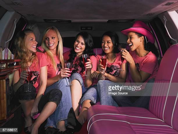 Five women sat in limousine