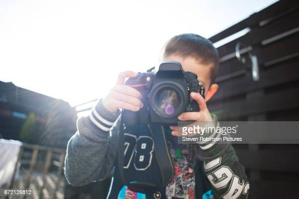 Five Year Old with Professional Camera