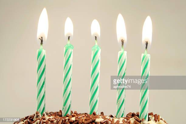 five years - candle stock pictures, royalty-free photos & images