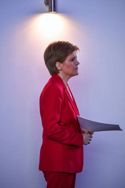 GBR: Nicola Sturgeon Campaigns In Dundee
