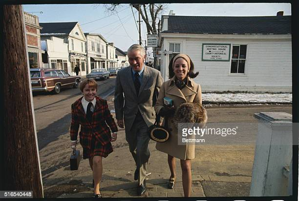 Five young women who were at the party on Chappaquiddick Island with Senator Edward M Kennedy and Mary Jo Kopechne July 18th are shown walking with...