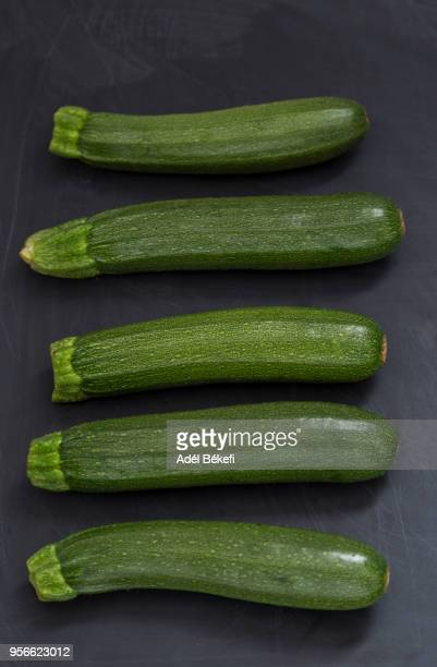 five zucchini - marrow squash stock pictures, royalty-free photos & images