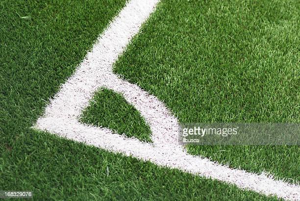 futebol de cinco campo de futebol escanteio - chute de escanteio - fotografias e filmes do acervo