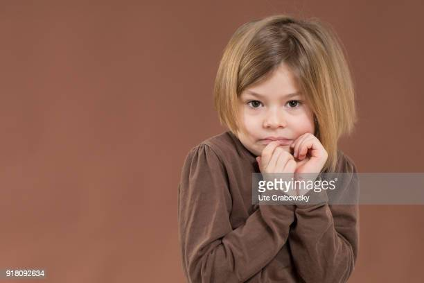 Fiveyear old girl poses for a photo on February 03 2018 in Bonn Germany