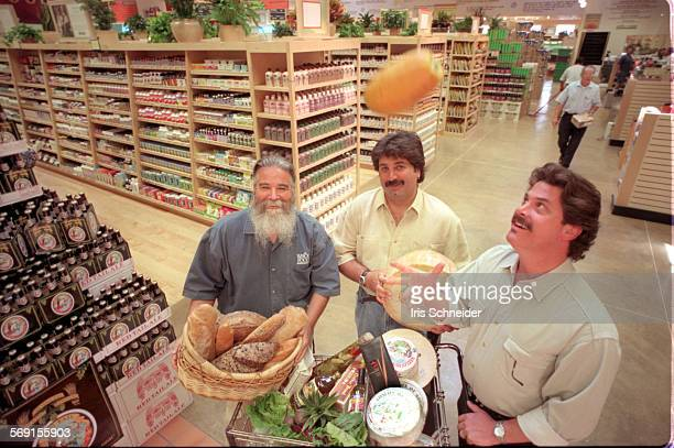 Whole Foods#1.IS.7/23.In the new Whole Foods store in West LA, l–r: Michael Besancon, regional VP of S. Calif. Region, store manager George Khoury...