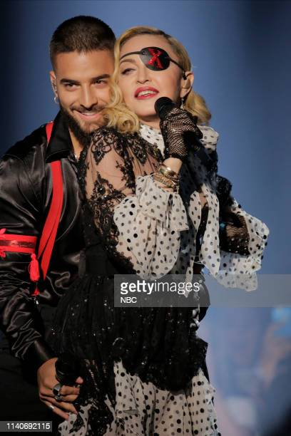 AWARDS Fixed Show 2019 BBMA at the MGM Grand Las Vegas Nevada Pictured Maluma Madonna