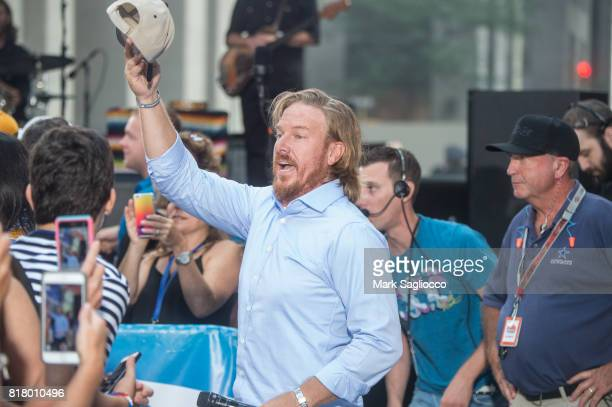 """Fixer Upper"""" Host Chip Gaines attends Chris Stapleton performance on NBC's """"Today"""" at Rockefeller Plaza on July 18, 2017 in New York City."""