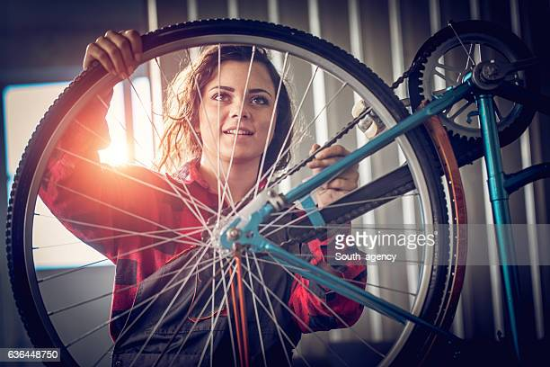 Fixing a bicycle