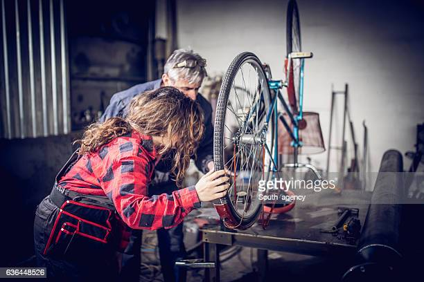 Fixing a bike together
