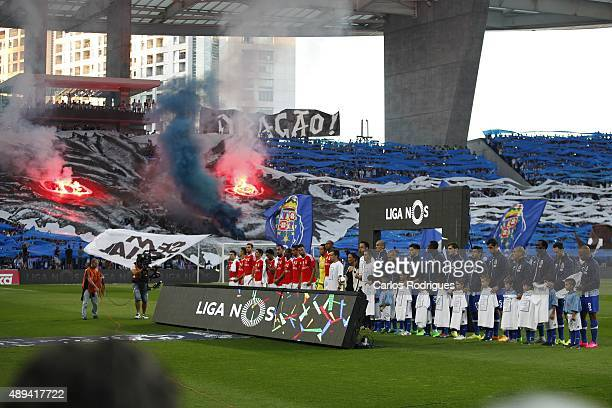 Fixture during the match between FC Porto and SL Benfica for the Portuguese Primeira Liga at Estadio do Dragao on September 20 2015 in Porto Portugal