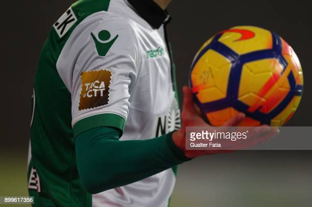 Fixture during the Portuguese League Cup match between CF Os Belenenses and Sporting CP at Estadio do Restelo on December 29 2017 in Lisbon Portugal