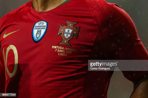 Fixture Portugal oficial shirt during Portugal vs Algeria International Friendly match at Estadio da Luz on June 7 2018 in Lisbon Portugal