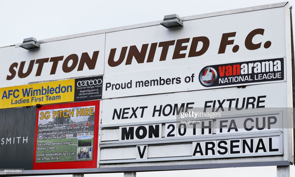 Sutton United Media Access : News Photo