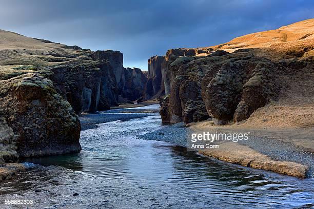 Fjadrargljufur canyon and river, Iceland