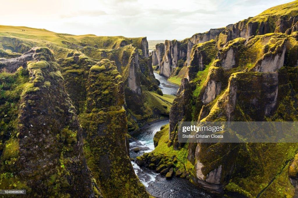Fjadrargljufur canyon in Iceland : Foto stock