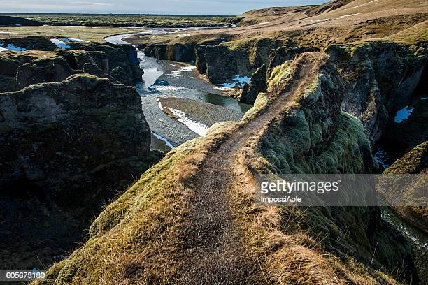 fjadrargljufur canyon - impossiable stock pictures, royalty-free photos & images