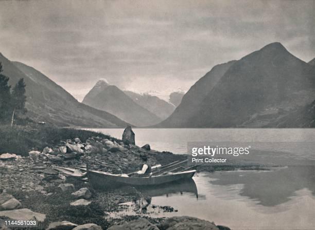 Fjaerlandsfjord' 1914 From Norge Turistruter I 65 Billeder [Mittet Co Kunstforlag Kristania 1914] Artist Unknown