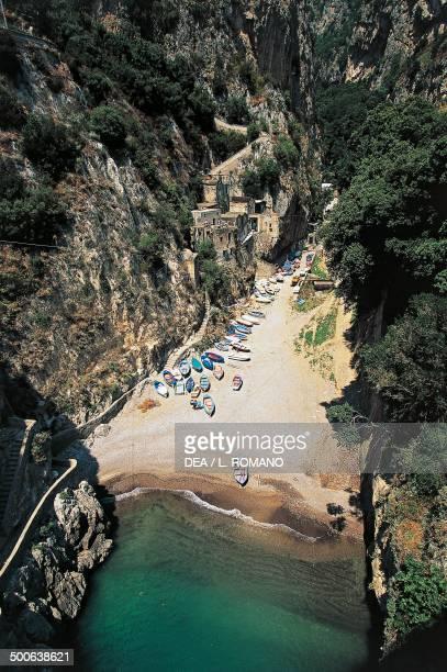 Fjord of Furore near Praiano Amalfi Coast Campania Italy