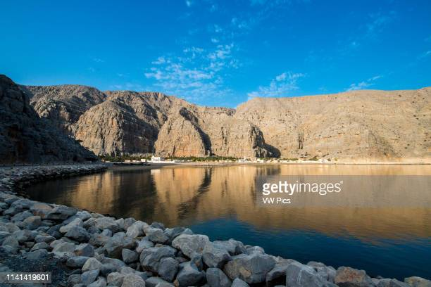 Fjords of the Musandam coast along the Persian Gulf near Khasab Oman
