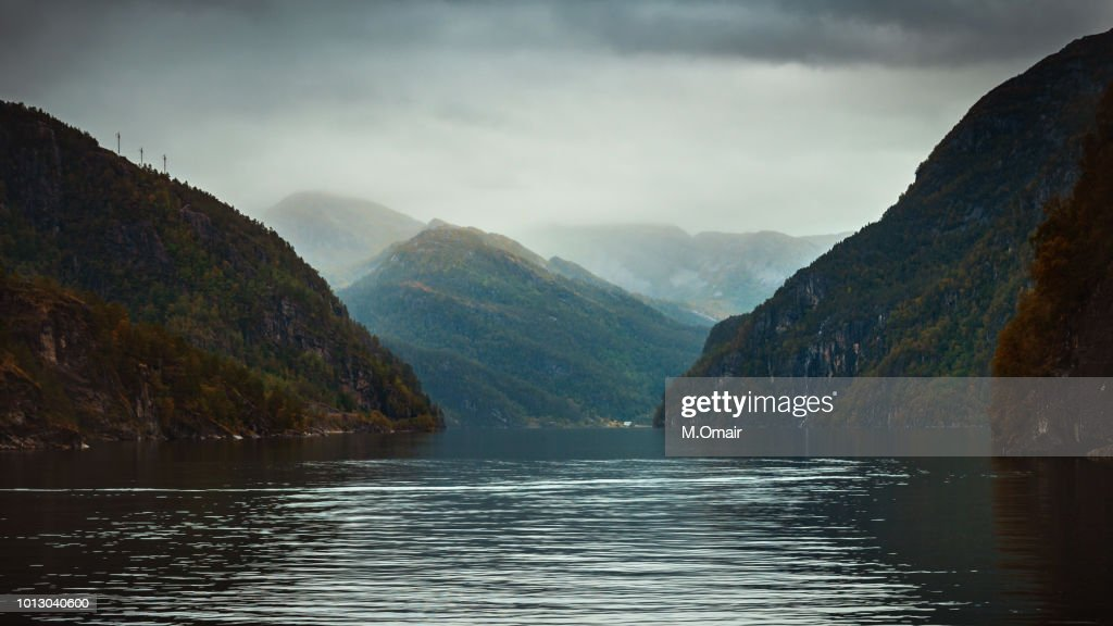 Fjords Tour In Bergen Norway Europe In Cloudy Autumn Weather