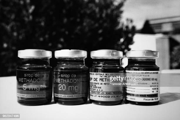 Flacons de sirop de méthadone à Paris France