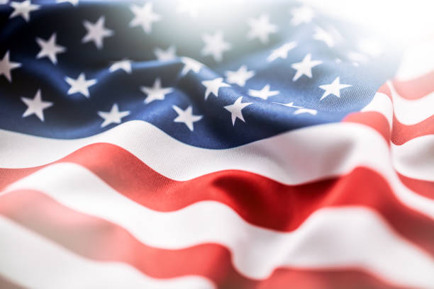 stripes background usa flag american flag american flag blowing wind close up