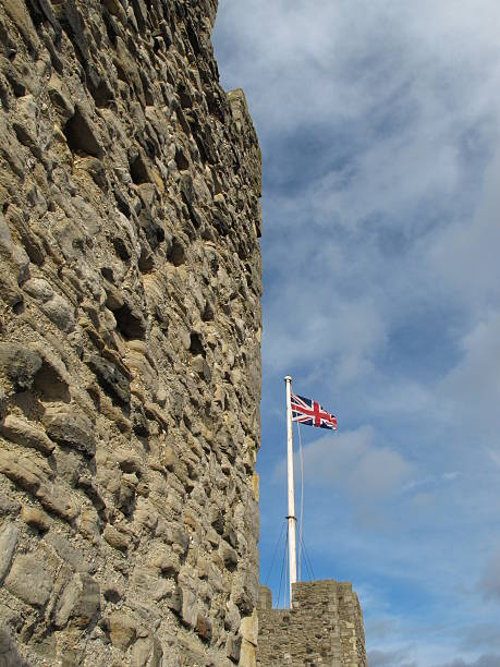 Flag And Castle Wall
