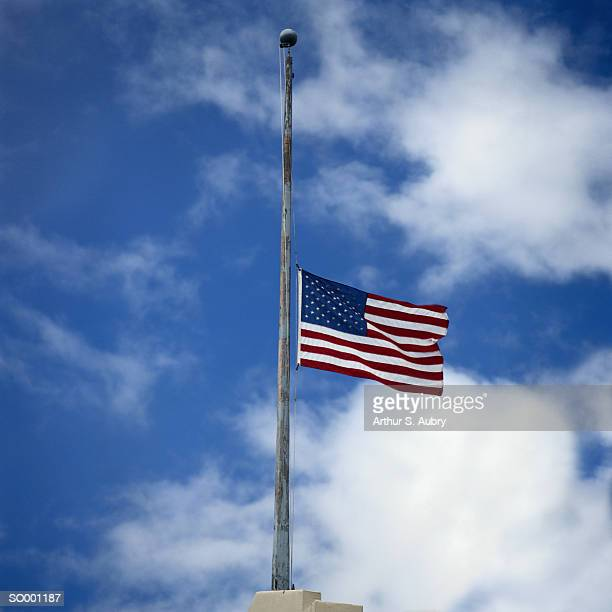 flag at half mast - half mast stock photos and pictures