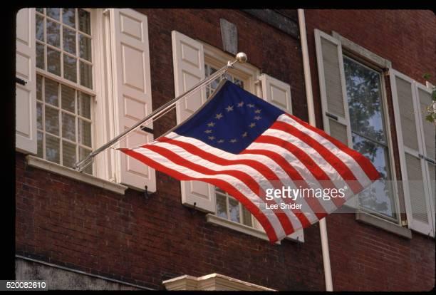 Flag at Powel House in Philadelphia