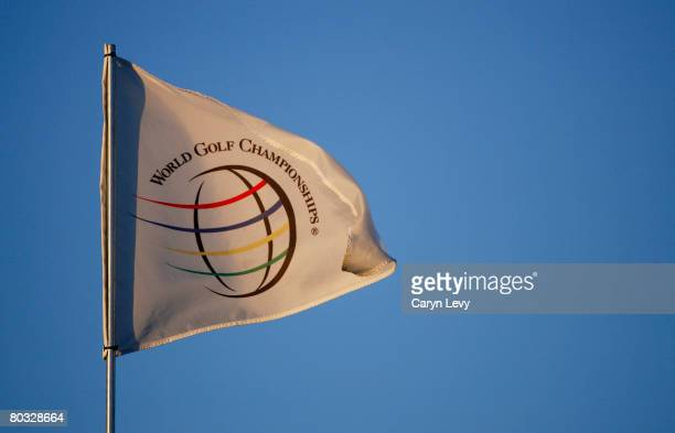A flag blows in the wind during practice for the WGCCA Championship on March 17 2008 on the Blue Course at Doral Golf Resort and Spa in Doral Florida