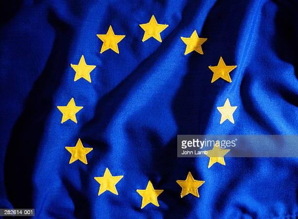 EU (European Union) flag, close-up