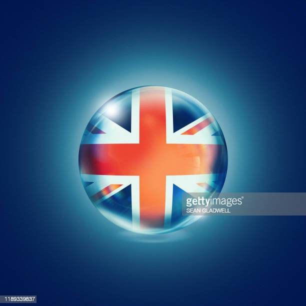 uk flag crystal ball - national flag stock pictures, royalty-free photos & images