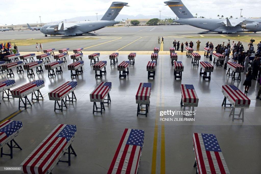 TOPSHOT-US-NKOREA-REMAINS-DIPLOMACY : News Photo