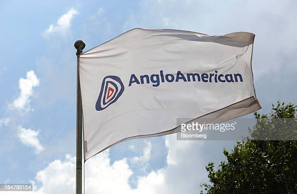 A flag flies outside the offices of Anglo American Plc in the Marshalltown district of Johannesburg South Africa on Friday Oct 26 2012 Anglo American...